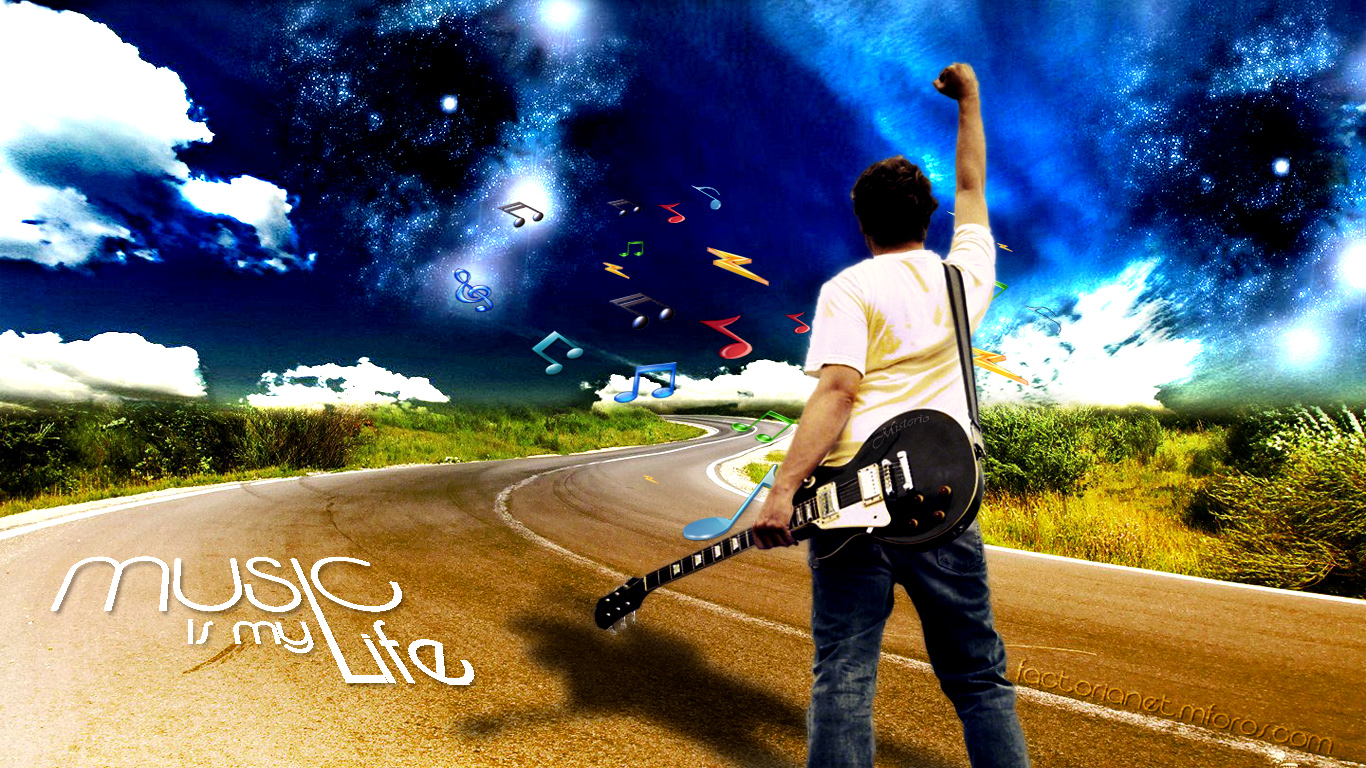 Wallpaper Psd Music Is My Life Version 20 Picture